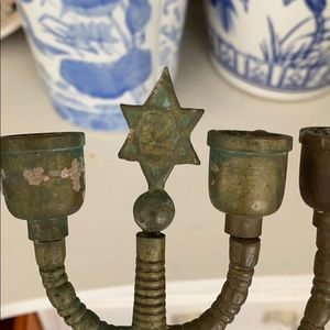 Vintage Accents - VINTAGE BRASS CHANUKAH MENORAH